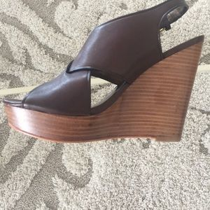 NEW COACH Jamila Chesnut Wedge Sandal Size 7B